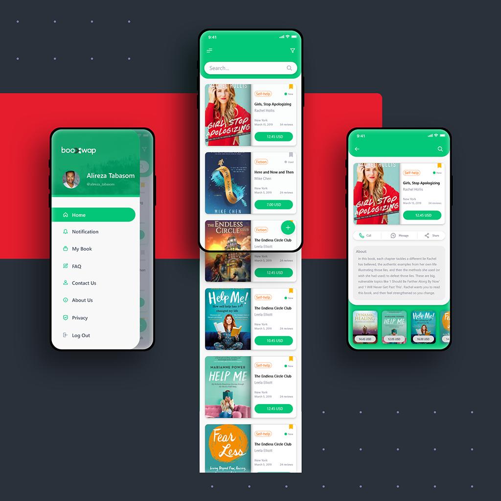 Arvin Maleki Booxwap Application1