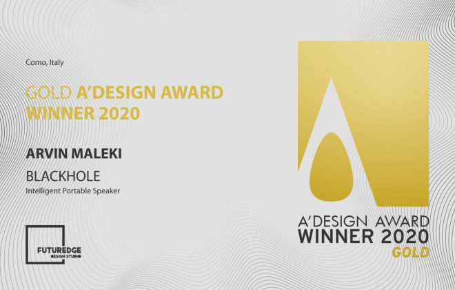 ARVIN MALEKI GOLD A'DESIGN AWARD WINNER 2020