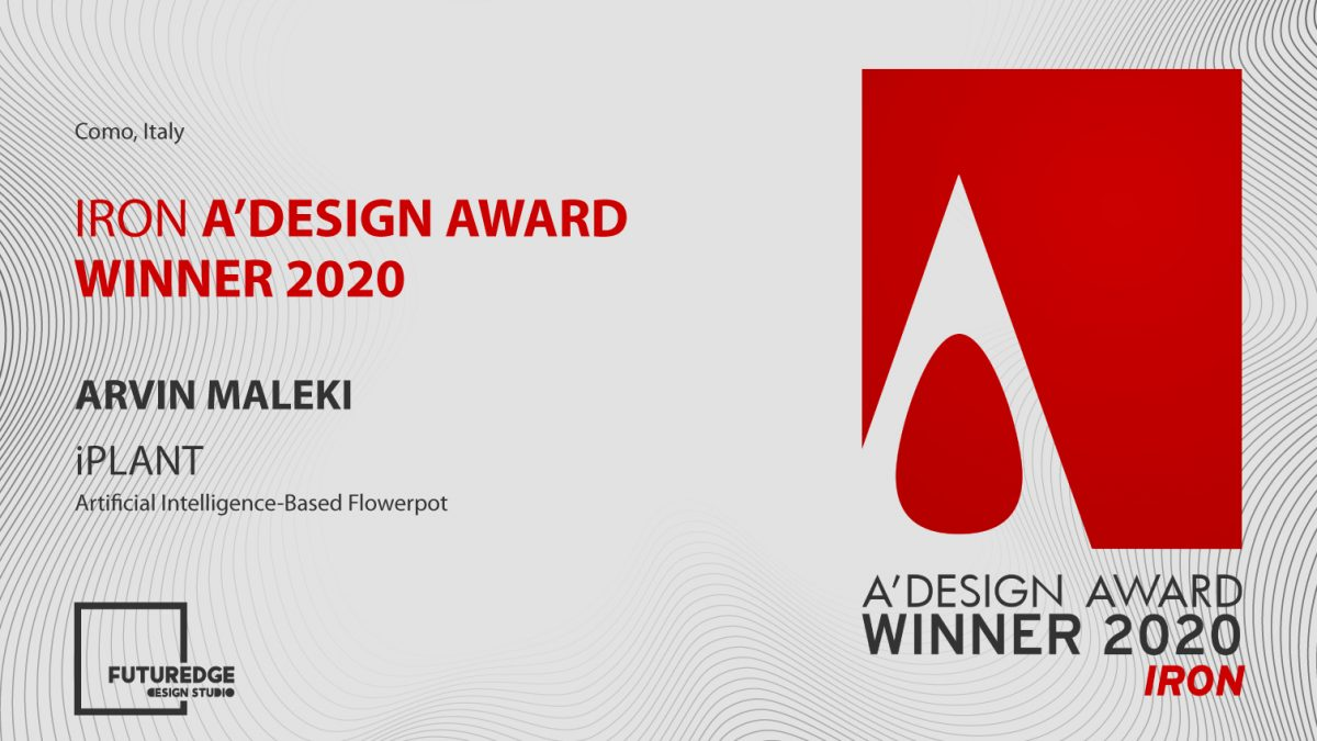 ARVIN MALEKI IRON A'DESIGN AWARD WINNER 2020