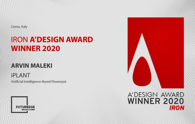 ARVIN MALEKI IRON A'DESIGN AWARD WINNER 2020